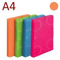 KARTON P+P Krabice na spisy A4 s gumou NEO COLORI - oranžová