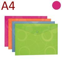 KARTON P+P Obálka s drukem, A4, NEO COLORI - růžová