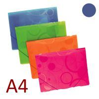 KARTON P+P 3 klopá složka A4 PP s gumou NEO COLORI - modrá