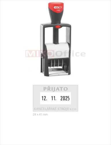 COLOP Printer 2160 - datumové s textem - otisk 24 x 41 mm - polštářek černý