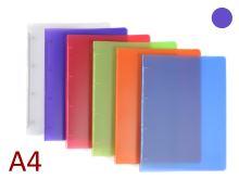 KARTON P+P Pořadač A4/15 PP 4 kroužkový, hřbet 20 mm, Opaline - fialový
