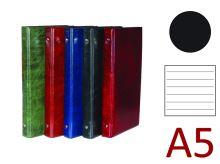 KARTON P+P Kroužkový záznamník A5, XEPTER, 4 kroužky, náplň 100 listů - černá