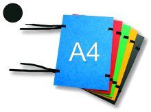 HIT OFFICE Spisová deska s tkanicí A4, prešpán - černá