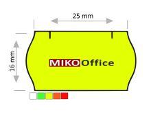 Etikety cenové CONTACT - oblé, 25 x 16 mm - žluté signální