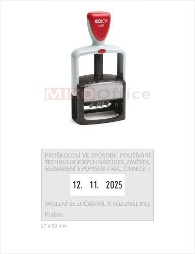 COLOP Printer S 660 - datumové s textem - otisk 37 x 58 mm - polštářek černý