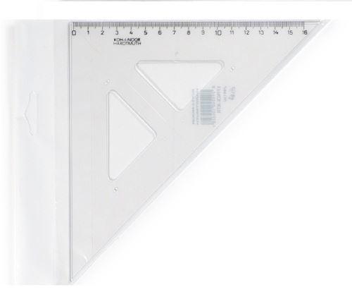 KOH-I-NOOR Trojúhelník s kolmicí 744150 45/177 - čírý