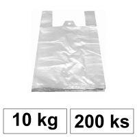 HDPE Mikrotenové tašky v bloku 10 kg - 11 µm - [200 ks] - bílé