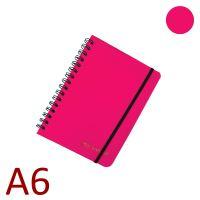 KARTON P+P Kroužkový blok A6, NEO COLORI, linkovaný - růžový [70 listů]
