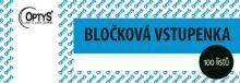 OPTYS 1267 Bločková vstupenka - 100 listů - modrá