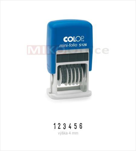 COLOP Printer Mini-Folio S 126 - držák černý - číslovací (6) - polštářek černý
