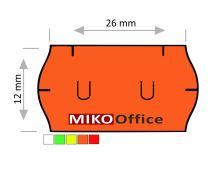 Etikety cenové UNI 26 x 12 mm - oranžové signální