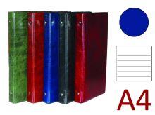 KARTON P+P Kroužkový záznamník A4, XEPTER, 4 kroužky, náplň 100 listů - modrá lesk