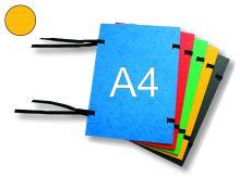 HIT OFFICE Spisová deska s tkanicí A4, prešpán - žlutá