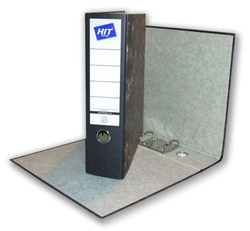 HIT OFFICE Pořadač závěsný A4, hřbet 80 mm, Classic - černý mramor