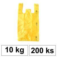 HDPE Mikrotenové tašky v bloku 10 kg - 11 µm - [200 ks] - žluté