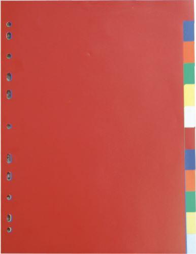 KARTON P+P Rozdružovač (rozlišovač) PP A4 - 2x5 barev