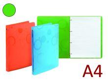 KARTON P+P Kroužkový záznamník A4, PP NEO COLORI, 4 kroužky, náplň 70 listů - zelená