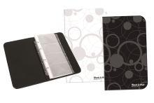 KARTON P+P Vizitkář kroužkový A5 na 80 vizitek B&W - černá