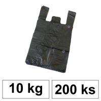 HDPE Mikrotenové tašky v bloku 10 kg - 11 µm - [200 ks] - černé