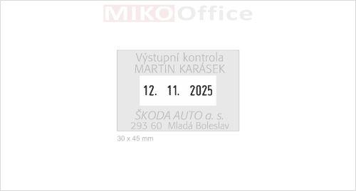 Štoček pro razítko Mic. Dater 30 x 45 mm - výroba na zakázku