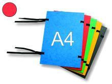 HIT OFFICE Spisová deska s tkanicí A4, prešpán - červená