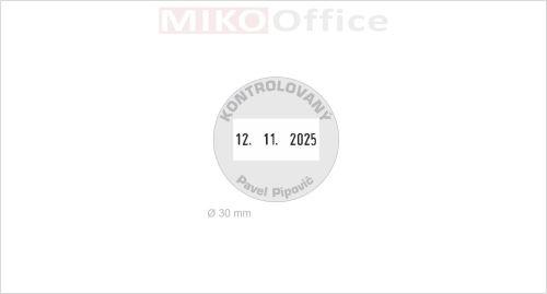 Štoček pro razítko Dater průměr 30 mm - výroba na zakázku
