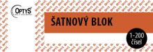 OPTYS 1280 Šatnový blok - 200 listů - červený