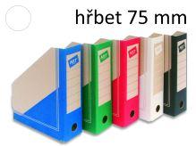 HIT OFFICE Archivní box BOARD Colour A4, hřbet 7,5 cm - bílý