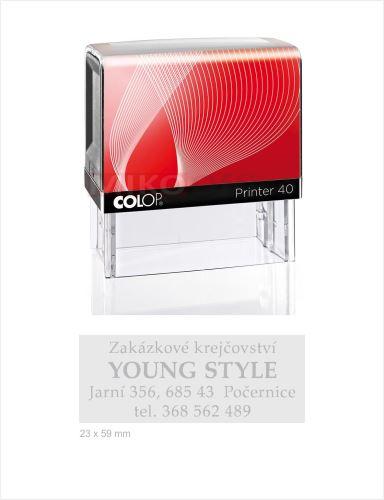 COLOP Printer 40 - kompletní razítko - otisk 23 x 59 mm