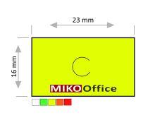 Etikety cenové MOTEX 23 x 16 mm - žluté signální