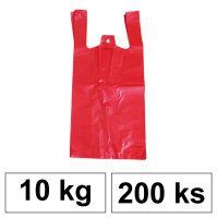 HDPE Mikrotenové tašky v bloku 10 kg - 11 µm - [200 ks] - červené