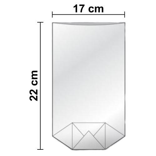 Sáčky celofánové 170 x 220 mm - čiré - křížové dno