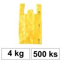 HDPE Mikrotenové tašky v bloku 4 kg - 8 µm - [500 ks] - žluté