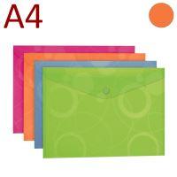 KARTON P+P Obálka s drukem, A4, NEO COLORI - oranžová