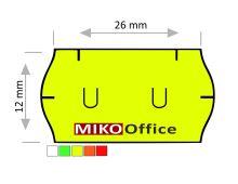 Etikety cenové UNI 26 x 12 mm - žluté signální