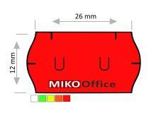 Etikety cenové UNI 26 x 12 mm - červené signální