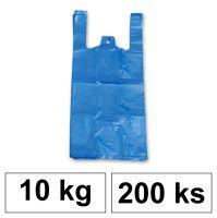 HDPE Mikrotenové tašky v bloku 10 kg - 11 µm - [200 ks] - modré