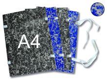 HIT OFFICE Spisová deska s tkanicí A4 mráček - modrá