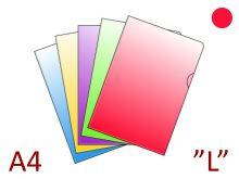 "KARTON P+P Průhledný obal A4 ""L"", PVC 150 µm - [10 ks] - červený"