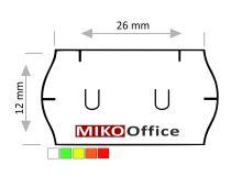 Etikety cenové UNI 26 x 12 mm - bílé