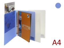 KARTON P+P Pořadač A4/15 PP 4 kroužkový, hřbet 20 mm, prezentační Opaline - modrý