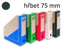 HIT OFFICE Archivní box BOARD Colour A4, hřbet 7,5 cm - černý