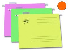 HIT OFFICE Závěsná deska A4 s rychlovazačem, Classic 240 g - oranžová