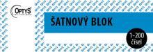 OPTYS 1280 Šatnový blok - 200 listů - modrý