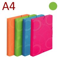 KARTON P+P Krabice na spisy A4 s gumou NEO COLORI - zelená