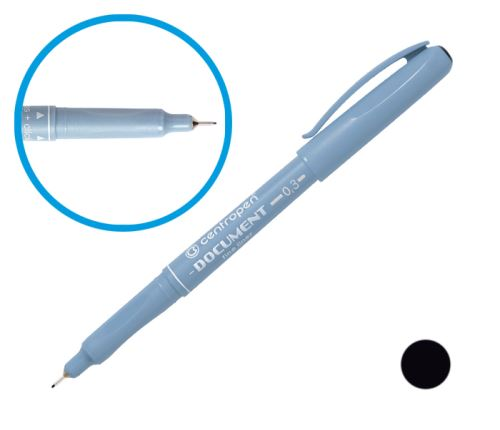 CENTROPEN Popisovač 2631 - 0,3 mm - liner - černý