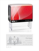 COLOP Printer 50 - černé - kompletní razítko - polštářek červený