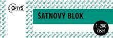 OPTYS 1280 Šatnový blok - 200 listů - zelený