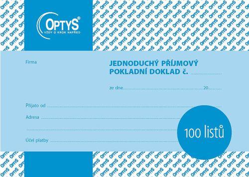 OPTYS 1067 Příjmový doklad - A6 - jednoduchý - 100 listů