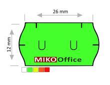 Etikety cenové UNI 26 x 12 mm - zelené signální